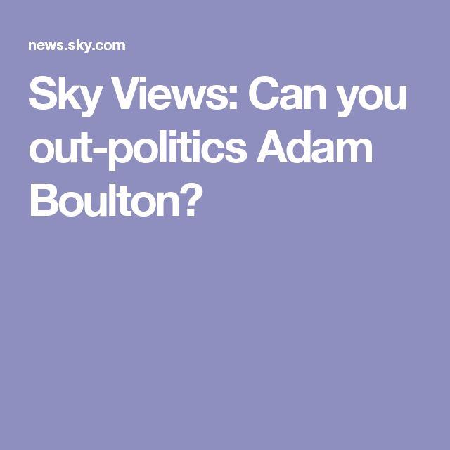 Trivia: Sky Views: Can you out-politics Adam Boulton?