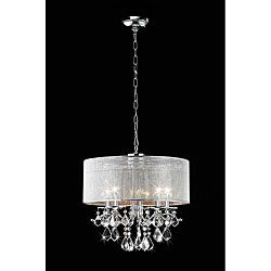 51 best inexpensive chandeliers images on pinterest ceiling lamps silver rhinestone shade 5 light round crystal chandelier 170 185w aloadofball Image collections