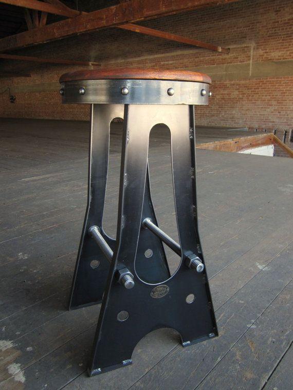 Vintage+Industrial+A+Frame+Bar+Stool+/+by+VintageIndustrial,+$665.00