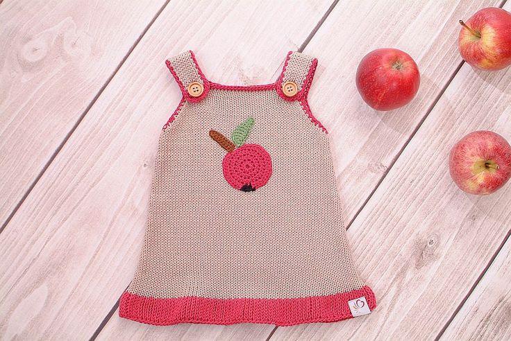 Baby dress knitting dress Apple Red