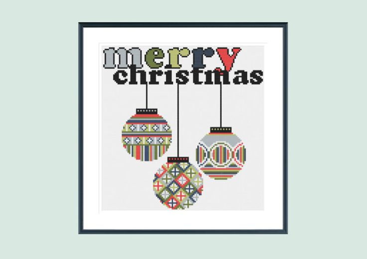 Cross stitch pattern, christmas cross stitch pattern, modern cross stitch pattern, xmas cross stitch pattern, instant download by SpruceXstitch on Etsy https://www.etsy.com/listing/238420392/cross-stitch-pattern-christmas-cross