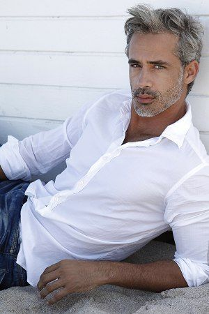 """Antonio Borges - International Model and Judge on """"Peru's Next Top Model"""" - liking the salt & pepper look."""