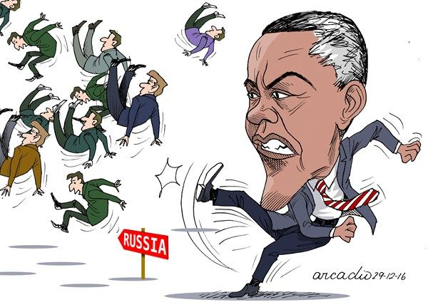 Obama angry against Russia   By Arcadio Esquivel