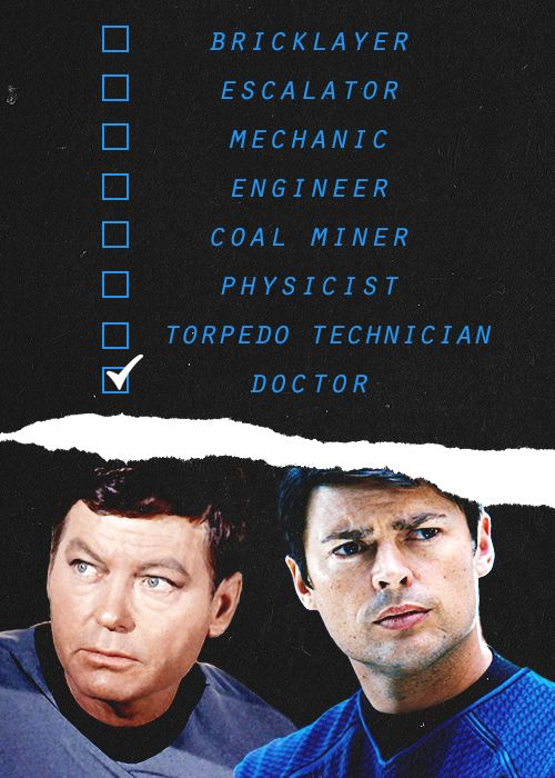 McCoy (Don't forget to add moon-shuttle conductor and magician on the list! :P LOL )