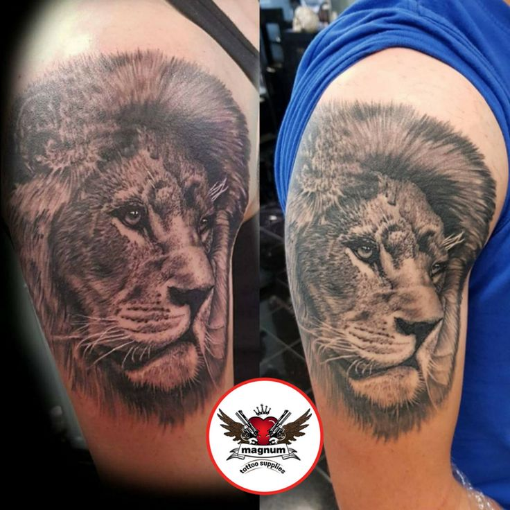 Fantastic lion piece done by Tattoos by Gavin Underhill using #magnumtattoosupplies 💪💪