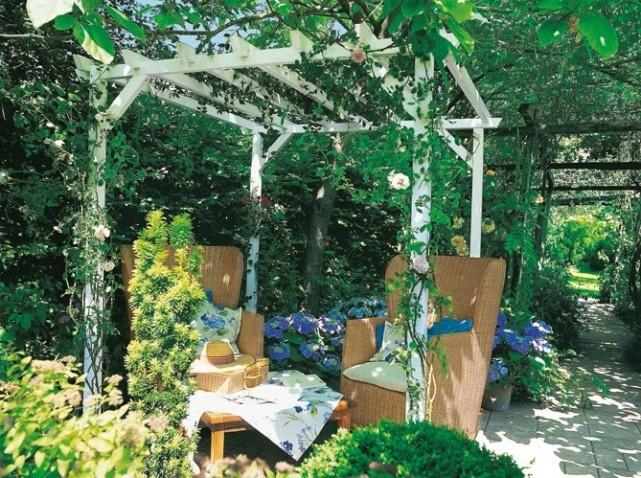 Die Langfristige Lösung Für Sonnenschirm, Schöne Holzstruktur Und Stein  Terrasse Ideen