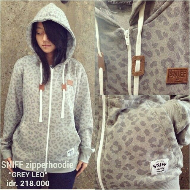 "SNIFF zipperhoodie ""GREY LEO"" idr. 218k 
