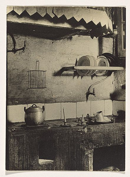 Margaret MICHAELIS Austria 1902 – Australia 1985 Movements: Australia from 1939 24 San Rafael Street. Kitchen, Barcelona c.1933-34 gelatin silver photograph image 23.9 h x 17.3 w cm Gift of the estate of Margaret Michaelis-Sachs 1986 Accession No: NGA 86.1384.153