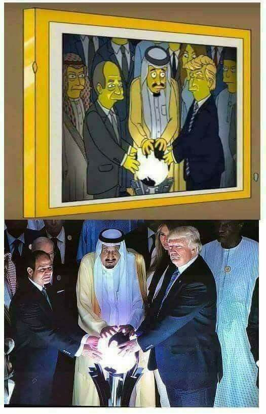 'The Simpsons' Predict Donald Trump's Viral Glowing Orb Photo In Fake Meme