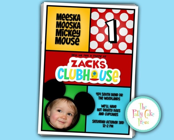 Mickey Mouse Clubhouse birthday party invitation kids-party-invitations