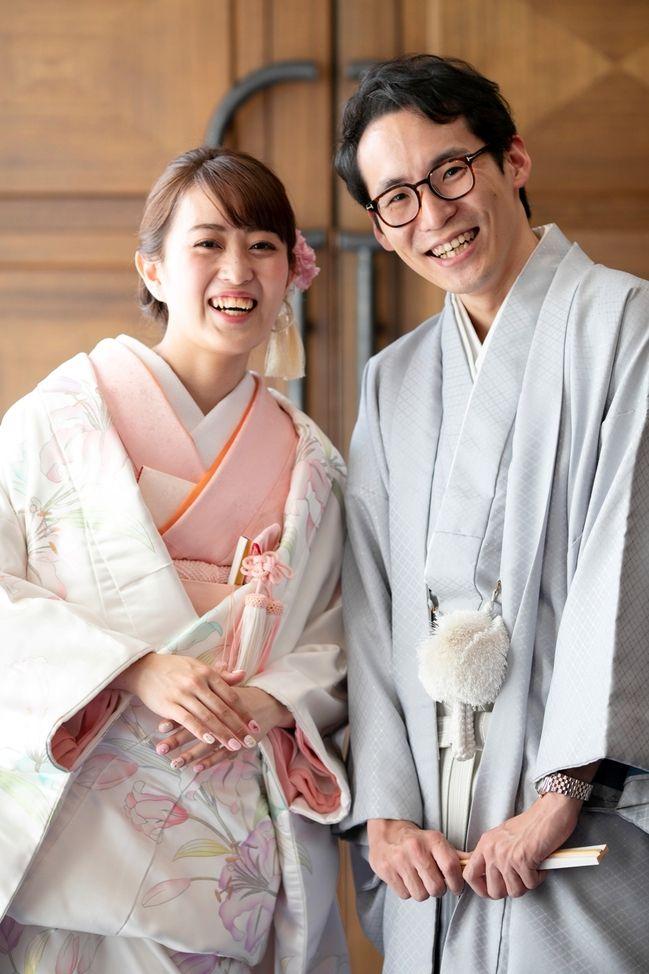 和装前撮りレポート ホテル阪急インターナショナル大阪 爽やかな笑顔