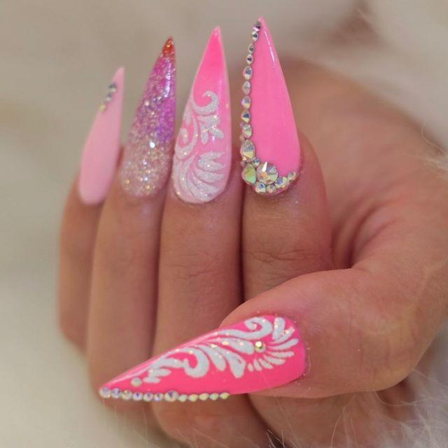 25+ bsta Long nail designs iderna p Pinterest | Lnga ...