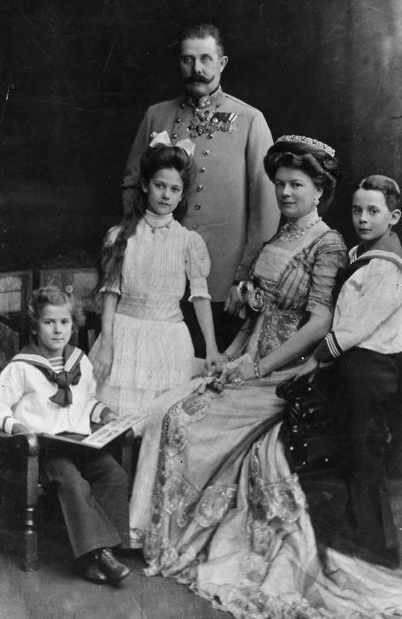 Archduke Franz Ferdinand of Austria and family.