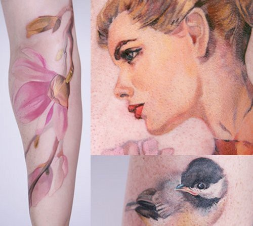 Amanda Wachob, Tattoo Artist - I've loved this women's work for years. Look at those flowers! Really?!