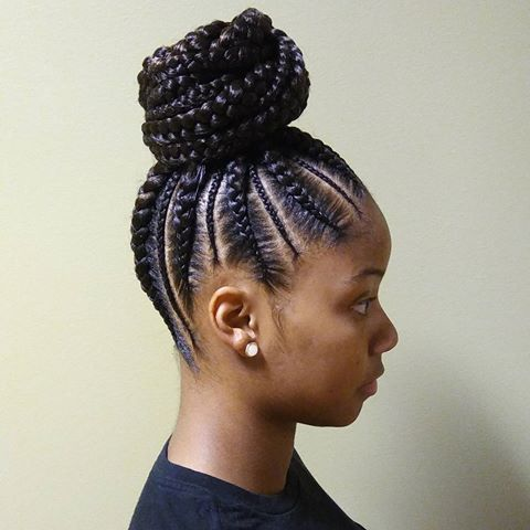 Cornrows ponytail