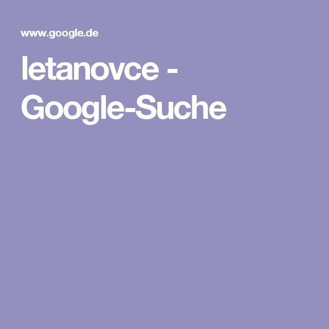 letanovce - Google-Suche