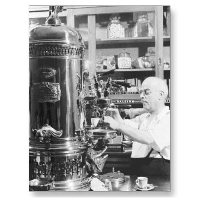 Vintage italian espresso shop
