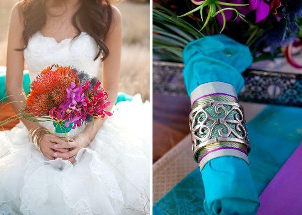 Eine inspirierende orientalische Hochzeit in Pink, Türkis und Violett | Friedatheres