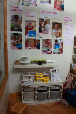 Documentation on independent baking at Wingate Children's Centre, Durham,