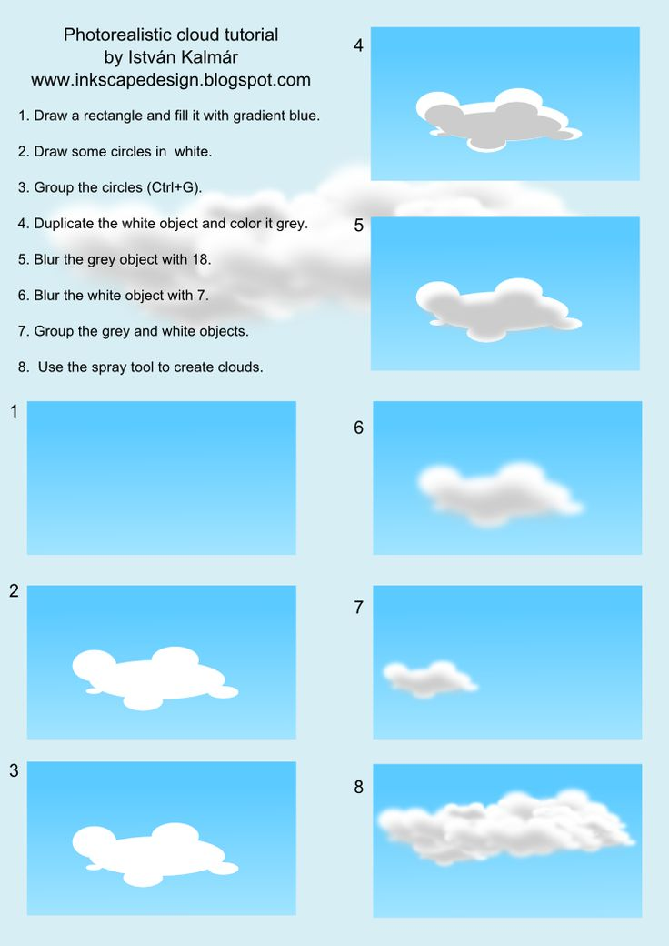 Photorealistic Clouds In Inkscape Anything Vector