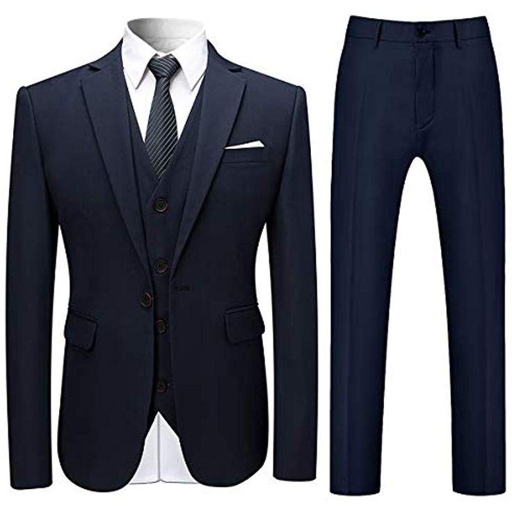 Allthemen Herren Slim Fit 3 Teilig Anzug Modern Sakko für Business Hochzeit Party #Bekleidung #Herren #Jacken Mäntel-Westen #Jacken #Bekle