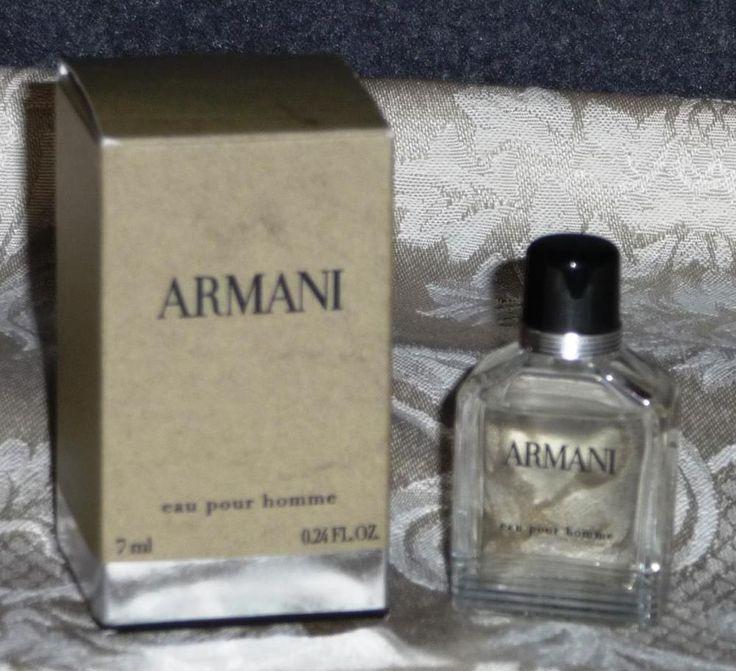 ARMANI eau pour homme Eau De Toilette Cologne Parfum for Men ~ 7ml France NIB #GiorgioArmani