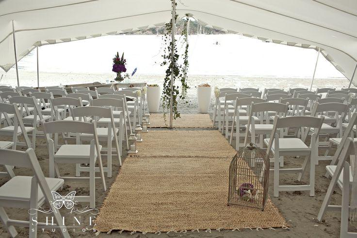 Great marquee set up - provided by Waiheke Island suppliers for Waiheke Island Weddings and Events