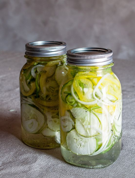 Homemade sweet pickles, quick and easy and oh soooo delicious. Even those that don't like sweet pickles love these.
