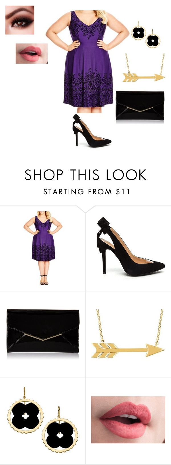 """""""Date Night"""" by sara-scott-i on Polyvore featuring City Chic, Furla and Asha by ADM"""