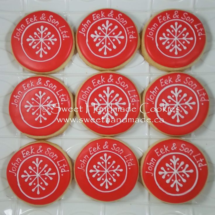 Sweet Handmade Cookies  - christmas winter logo cookies
