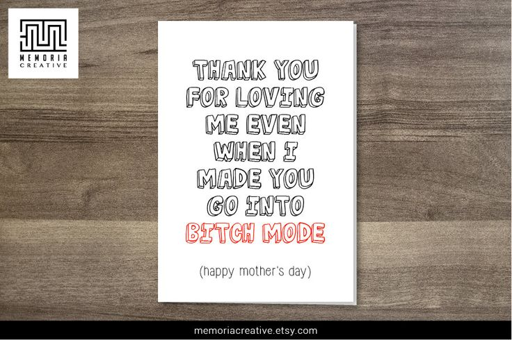 Mother's Day Card  #mothersday #mothersdaycard #funnycard #momsday #card  https://www.etsy.com/au/listing/225914373/mothers-day-card-funny-card-funny