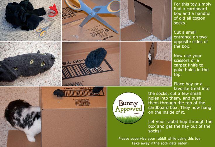 Diy Rabbit Toy Ideas Pets Pinterest Cardboard