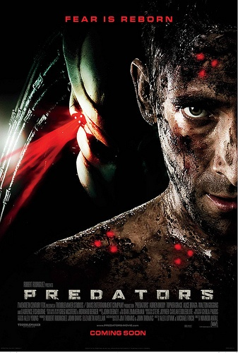 Predators Movie Poster..Ok so aliens fall under scifi(not a fan) but when i was a kid I just thought they were monsters..and I <3 Monsters :)..