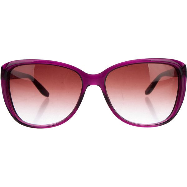 Pre-owned Barton Perreira Spellbound Cat-Eye Sunglasses ($75) ❤ liked on Polyvore featuring accessories, eyewear, sunglasses, purple, cat eye sunglasses, purple glasses, barton perreira sunglasses, cateye sunglasses and barton perreira