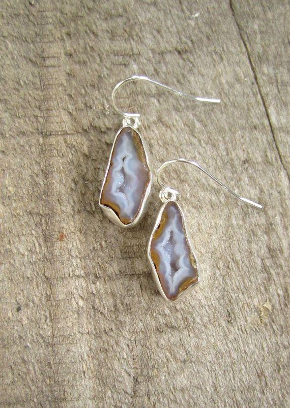 FLASH SALE 50% Geode Earrings Mini Geode by julianneblumlo on Etsy