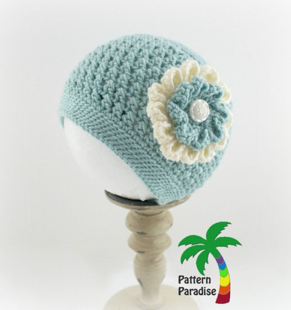 X Stitch Challenge Crochet Pattern for Julia Hat by Pattern Paradise ~ free pattern ᛡ