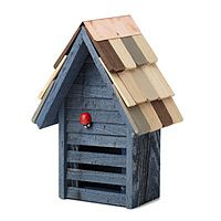 Painted and shingled by hand, this whimsical ladybug house welcomes your favorite polka-dotted creatures into the neighborhood! Its quality cypress construction will make it an attractive garden accent and warm invitation to insects for years to come