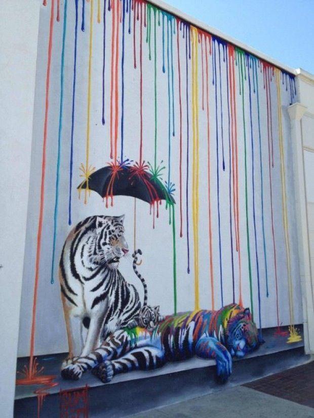 Tiger Rain Street Art