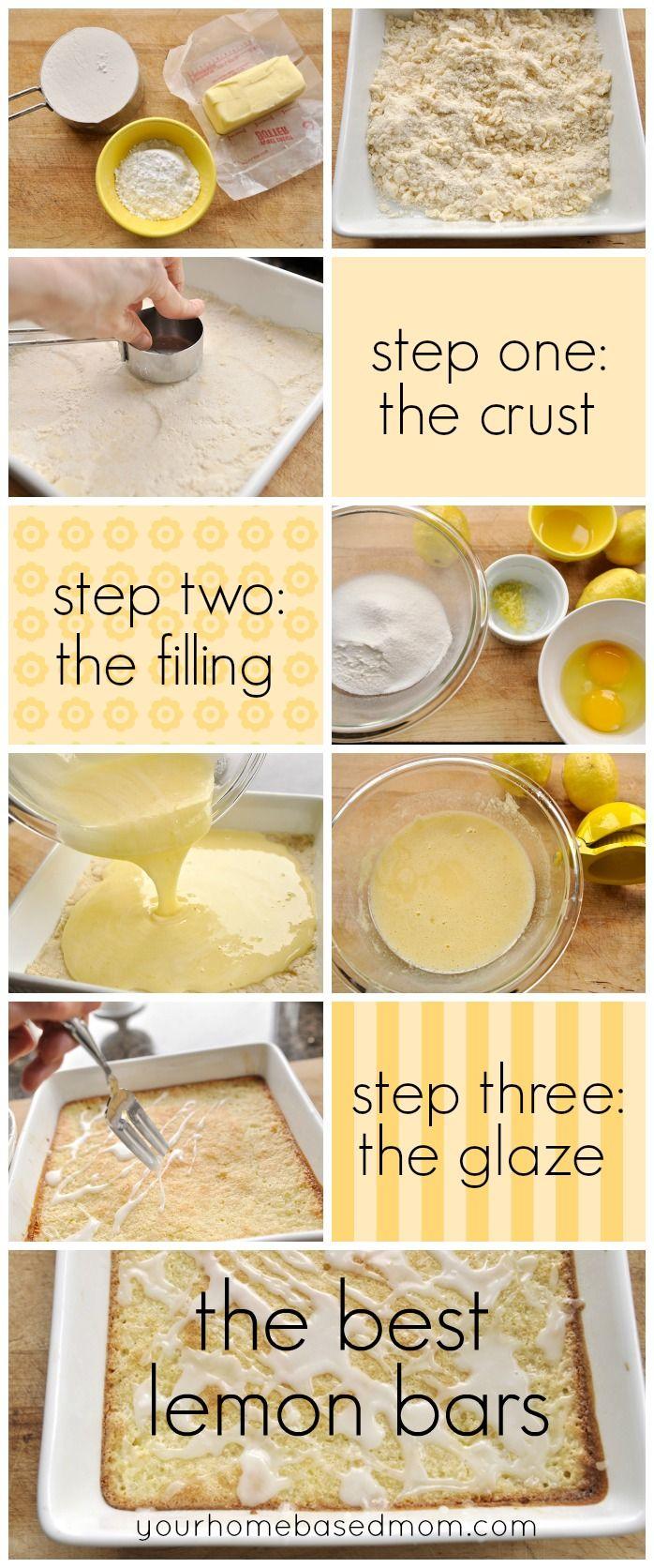 lemon bar collage