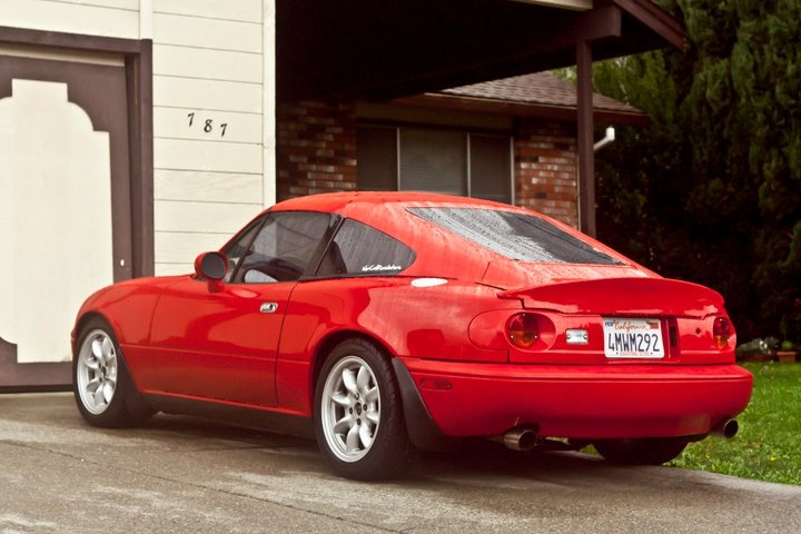 miata fastback conversion interesting things that go vroom pinterest the o 39 jays. Black Bedroom Furniture Sets. Home Design Ideas