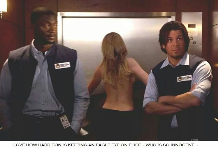 Hardison (Adis Hodge),Parker (Beth Riesgraf) and Eliot Spencer (Christian Kane) -Screencap from Leverage season 5 2012-The Long Goodbye Job- Added by Diane Smith