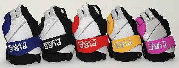 Pure Ringette Gloves ~ designed by a ringette player, lower profile fingers allow you to get closer to the ice, so rings can't slide under your stick/hand. JR. sizes available in a variety of colours! $79.99