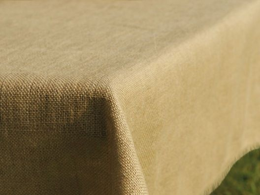 Natural Jute Tablecloths - love this!