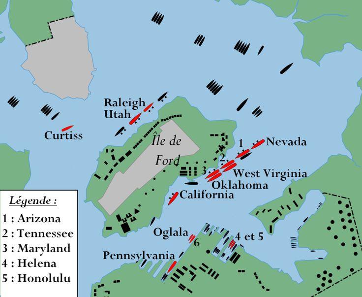 39 45 Pearl harbor plan - Attaque de Pearl Harbor — Wikipédia