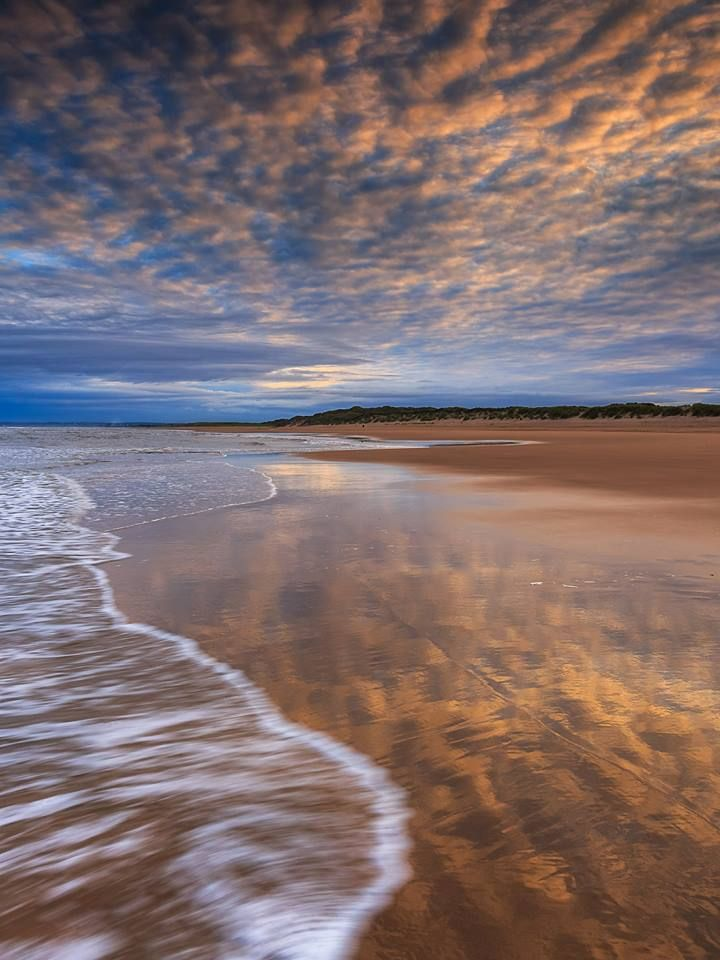 Heavenly view at Balmedie Beach, Aberdeenshire, Scotland