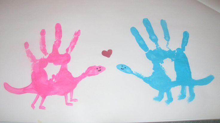 Dinosaur Hand Prints