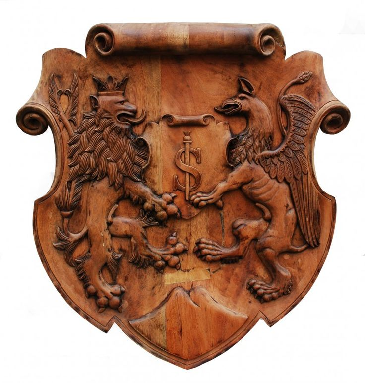 Dílo Wappen Holzschnitzerei Rodinný znak od autora CVR interiéry s.r.o. vystavené v prodejní galerii Česká tvorba na webu rezbari.ceskatvorba.cz