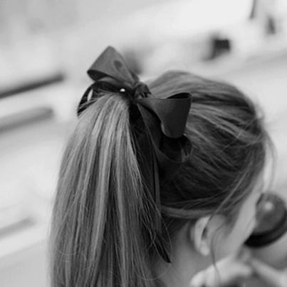 bow in hair