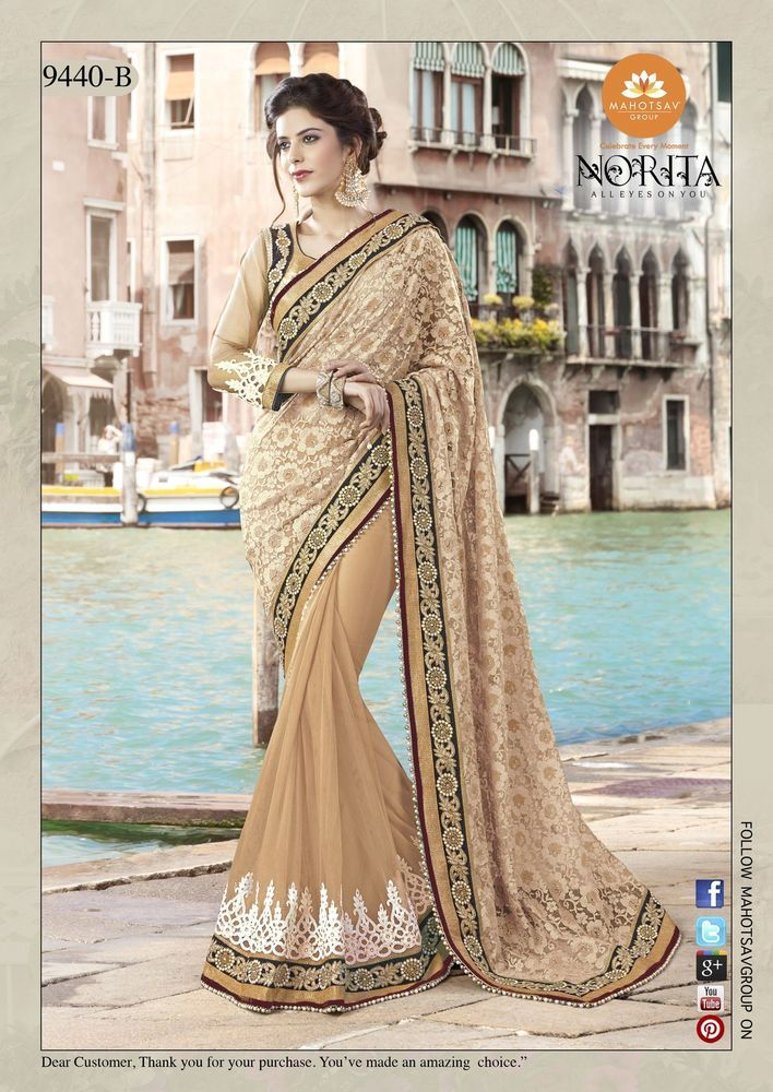 Saree Indian Sari Partywear Ethnic Pakistani Dress Designer Wedding Bollywood #Tanishifashion #DesignerSaree