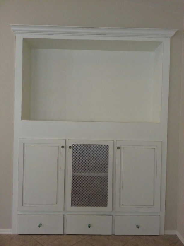 Built In Entertainment Center Looks Like Converted From A Closet. Great  Idea For An Unused